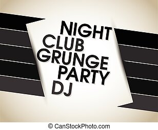 abstract grunge text line vector background for party
