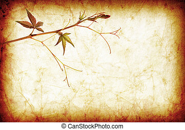 abstract grunge texture background with leafs for multiple uses