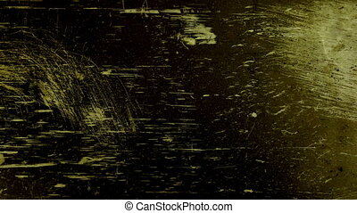 abstract grunge textures of universal film/academy leader countdown, made using 35mm celluloid film strip.