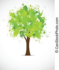 Abstract grunge tree