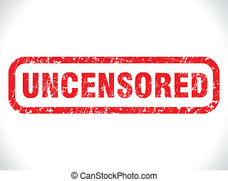 abstract grunge uncensored tag vector illustration