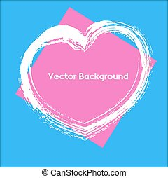 Grunge Valentine's Day Heart Banner