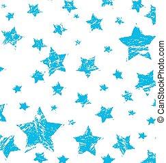 grunge vintage blue star isolated