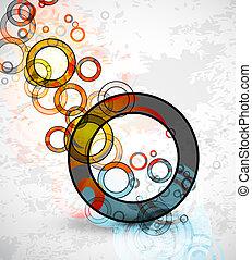 Abstract grungy circles. Vector background - Vector ...
