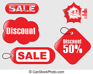 abstract grungy sale tag vector illustration