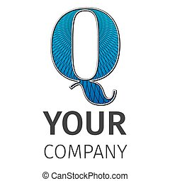 Letter Q logo icon design template elements. Abstract guilloche Logo. Excellent vector illustration, EPS 10