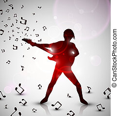 Abstract guitarist - Abstract background with guitarist, eps...