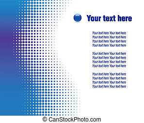 Abstract halftone background. - Blue half-tone background....