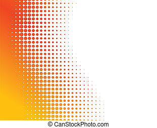 Abstract halftone background. - Orange half-tone background....