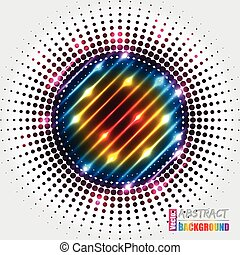 Abstract halftone background with rainbow colors