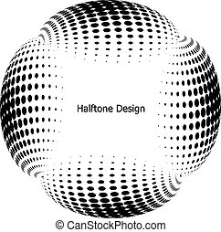 Abstract Halftone backgrounds