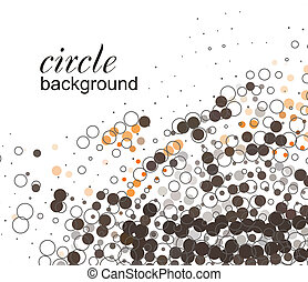 abstract halftone circle background