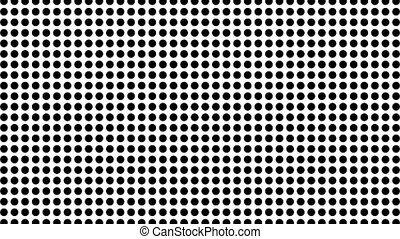 Abstract Halftone Moving Background. Dots on white...