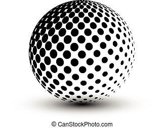Abstract Halftone sphere