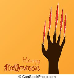 abstract halloween background, vect