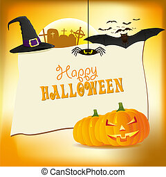 Abstract halloween background, vector