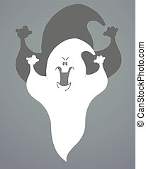 Abstract Halloween Background with Ghost. Vector...