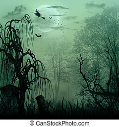 Abstract Halloween backgrounds with copy space for your ...