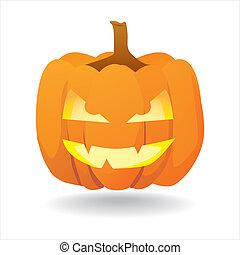 Abstract halloween smiling pumpkin - illustration