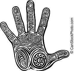 Abstract Hand Concept Pattern Design