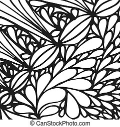 Abstract hand drawn background. Doodle pattern