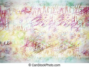Abstract  hand drawn colorful