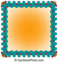 Abstract Hand-Drawn Floral Frame