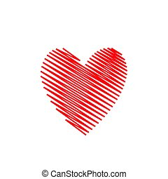 Hand drawn Red heart