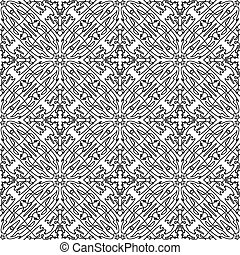 abstract hand-drawn seamless pattern