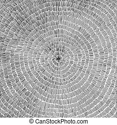 hand drawn vector background with a circle pattern