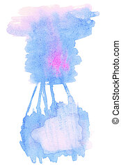 Abstract hand drawn watercolor background. Aquarelle colorful texture for your design.