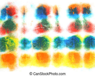 Abstract hand drawn watercolor background: blue, green, red, and yellow blurs