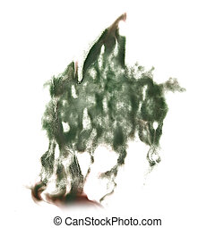 abstract hand marsh drawn watercolor blot insult Rorschach...
