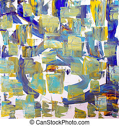 Abstract hand painted background picture on canvas