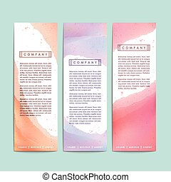 abstract hand painted watercolor background for banners