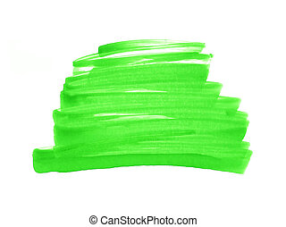 Abstract hand painted watercolor background green