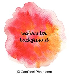 Abstract handdrawn colorful watercolor background. Vector illustration