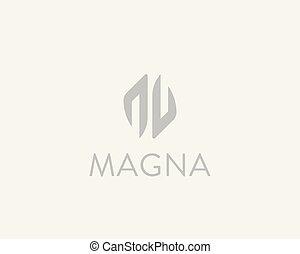 Abstract hands logotype. Arrows vector logo design