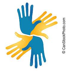 Abstract Hands Vector Symbol