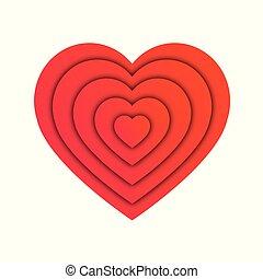 abstract, hart gedaante, liefde, concept, vector, illustratie