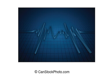 abstract, hart, ritmes, cardiogram