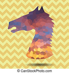 abstract head horse