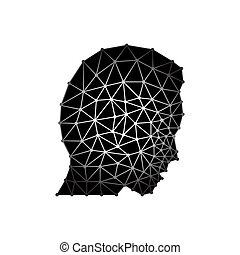 Abstract head man with triangles. eps 10 vector illustration
