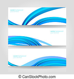 Abstract header blue wave vector - Website header colorful...