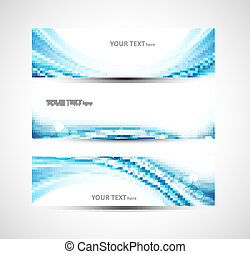 Abstract header blue wave whit vector background