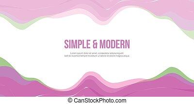 Abstract header website modern design