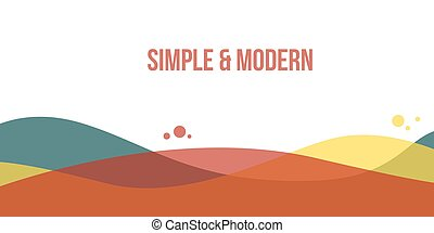 Abstract header website modern style