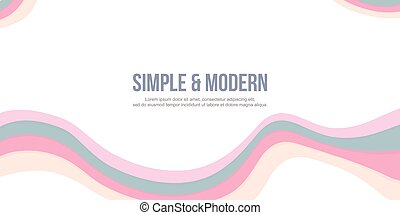Abstract header website with pink theme