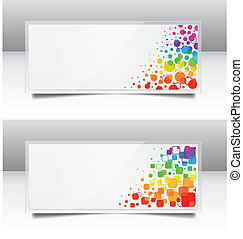 Abstract headers - Vector illustration of abstract headers
