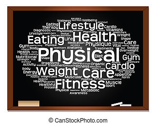 Abstract health, nutrition and sport word cloud